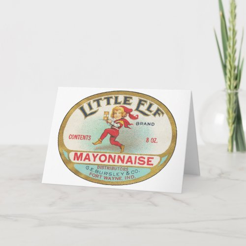 Little Elf Mayonnaise - Vintage Label