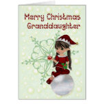 Little Elf Merry Christmas Granddaughter Card