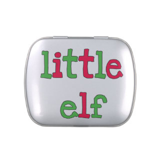 Little Elf Tins and Jars w. Candy Candy Tins