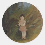 Little Elisa Round Sticker