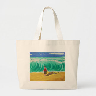 """""""Little Elvis and His Buddy"""" Art By Mike Quinn Large Tote Bag"""