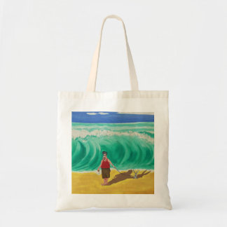 """""""Little Elvis and His Buddy"""" Art By Mike Quinn Tote Bag"""