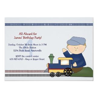 Little Engineer Birthday Party Invitation
