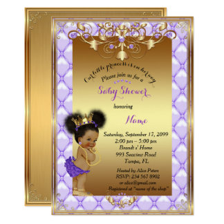 Little etnic Princess, Baby Shower Invitation, Card