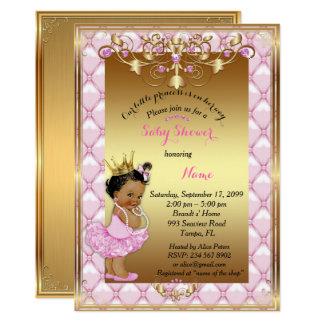 Little etnic Princess, Baby Shower Invitation,gold Card