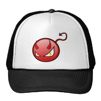 Little Evil Round Devil with an Arrow Tail Trucker Hat