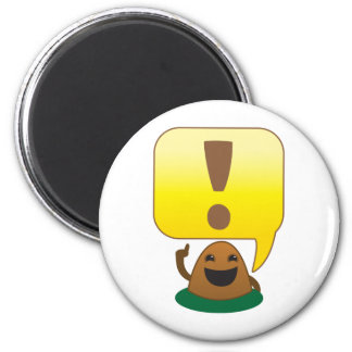 little exclamation 2 inch round magnet