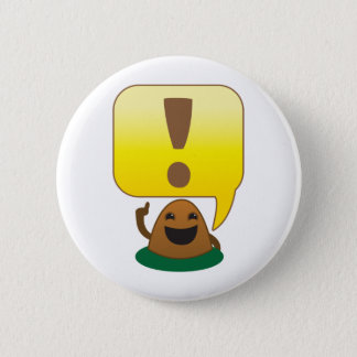 little exclamation pinback button