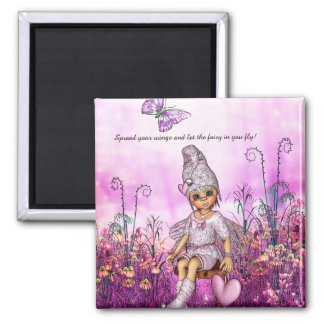 Little Fairy 2 Inch Square Magnet
