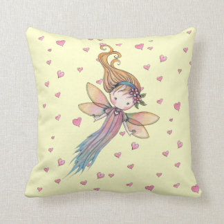 Little Fairy and Hearts  Pillow for Girls