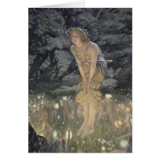 Little Fairy Angel and Girl Card