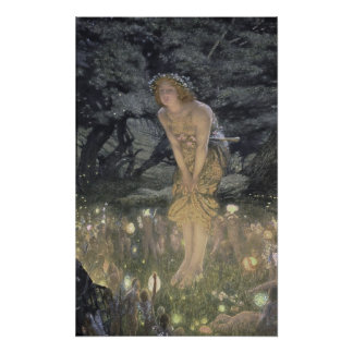 Little Fairy Angel and Girl Poster