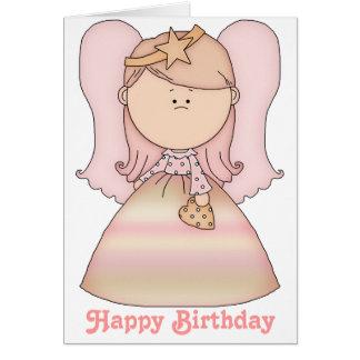 Little Fairy Angel Happy Birthday Card 2b