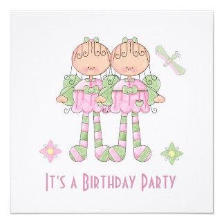"""Little Fairy Birthday Party Invitation 5.25"""" Square Invitation Card"""