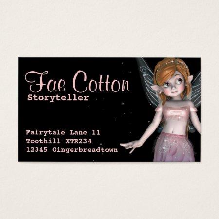 Little Fairy Fantasy Childrens Books Business Cards