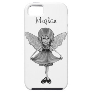 Little Fairy Girl, Pencil Drawing, Personalize iPhone SE/5/5s Case