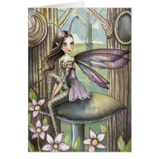 Little Fairy in the Woods Fantsy Art Greeting Card