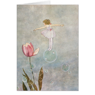 Little Fairy on a Bubble Card