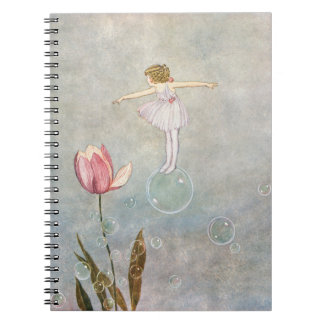 Little Fairy on a Bubble Spiral Notebooks