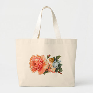 Little Fairy Painting Rose - Personalized Jumbo Tote Bag