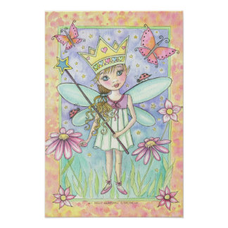 Little Fairy Princess Poster by Molly Harrison