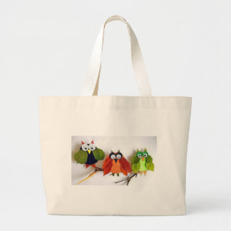 Little Fall Owl Large Tote Bag