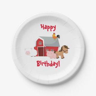 Little Farm Animals Paper Plates