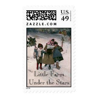 Little Farm Under the Stars Christmas Postage