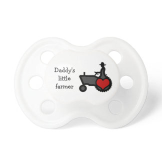 Little Farmer Baby  Cute Tractor with Heart Pacifier