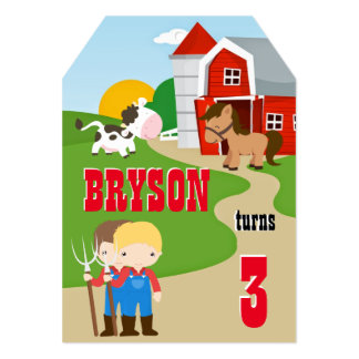 Little Farmer Boy Birthday Invitation