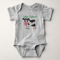 Little Farmer Cow Bodysuit