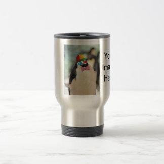 little fat and fluffy penguin travel mug