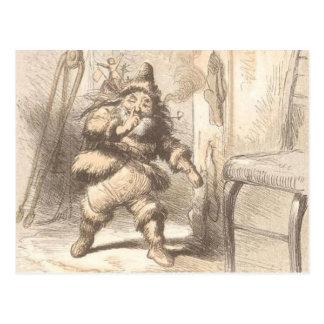 Little Fat Vintage Santa Postcard