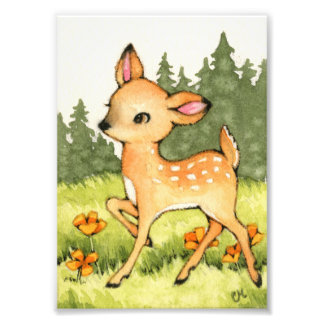 Little Fawn - Cute Deer Art Photograph
