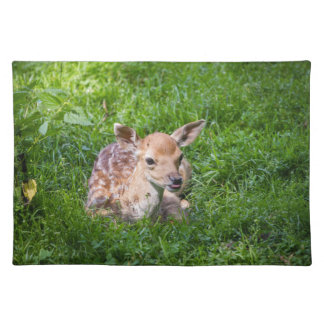 Little Fawn In Grass, Baby Animal Placemat