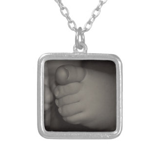 Little Feet Silver Plated Necklace