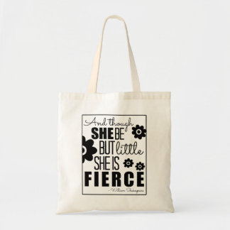 Little & Fierce - Black & White Canvas Bags