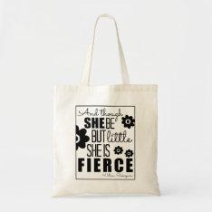 Little & Fierce - Black & White Tote Bag at Zazzle