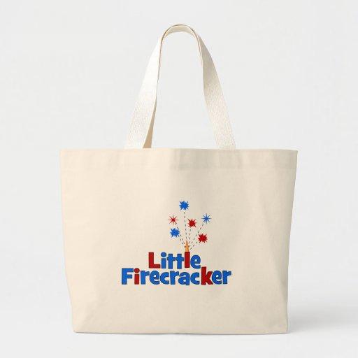 Little Firecracker - 4th of July Canvas Bag