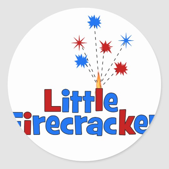 Little Firecracker - 4th of July Classic Round Sticker