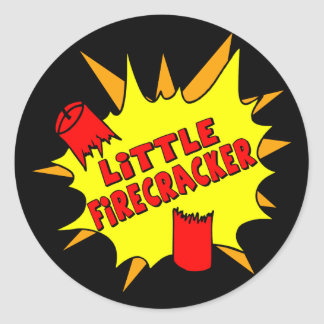 Little Firecracker Classic Round Sticker
