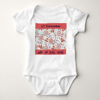 Little Firecracker Fourth of July Firecracker Baby Bodysuit