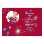 Little Firecracker Photo Birthday Invitation