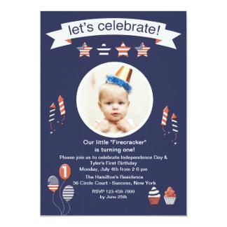 Little Firecracker Photo Invitation
