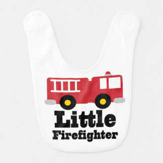 Little Firefighter Baby Bib