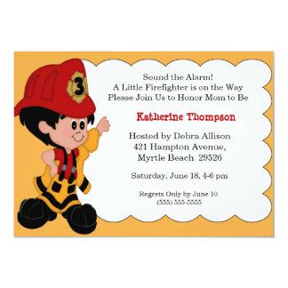 Little Firefighter Baby Shower Invitation