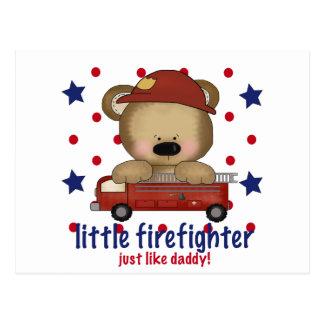 Little Firefighter Just Like Daddy Postcard