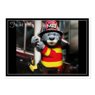 Little Firefighter Large Business Card