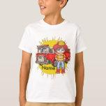 Little Firefighter Name kids basic t-shirt