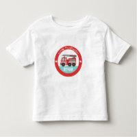 Little Firefighter, Red Fire Truck, For Boys Toddler T-shirt